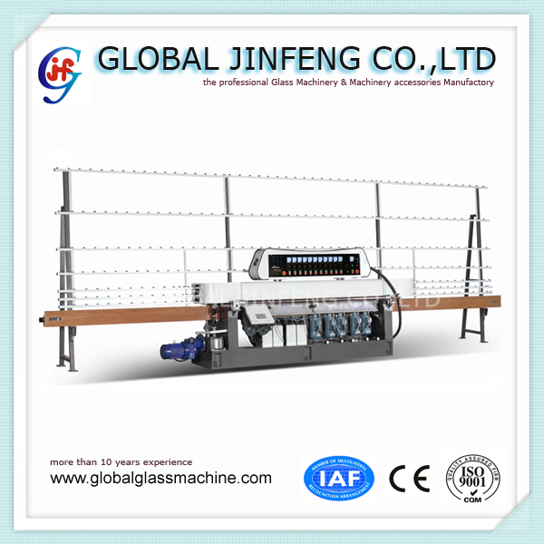 JFE11325 11 Motors automatic glass straight flat line grinding and polishing machine with CE
