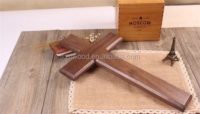 Jesus cross crucifix wood solid black walnut wooden cross