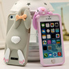 animal shape silicone phone case, cute mouse custom silicone mobile phone case