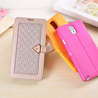 Luxury leather anti-shock case for samsung galaxy note 3