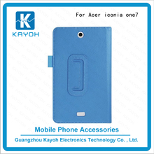 [kayoh]super slim 10 colors custom phone cases leather foldable stand smart case for Acer B1-770