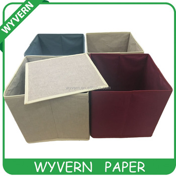 Fancy fabric foldable cube storage box