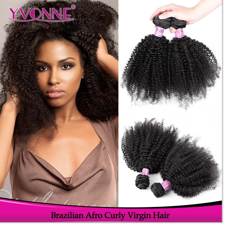 Chinese wholesale suppliers grade 5a afro kinky curly brazilian human hair