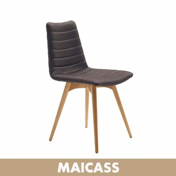 Modern solid wood chaise pu dining chair