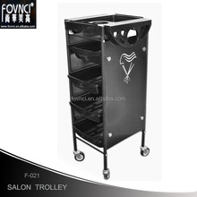 2017NEW Beauty Spa Hairdress Coloring Hair Salon Trolley 5 Tier Storage Rolling Cart