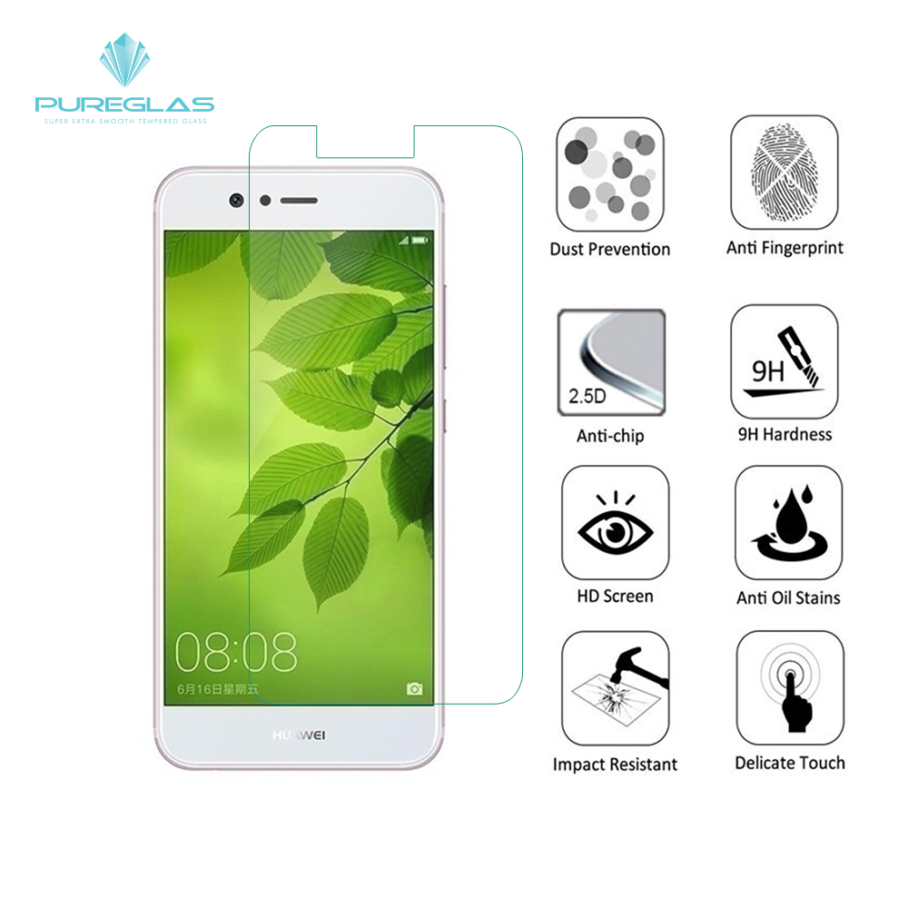 For Huawei Nova 2 Anti-fingerprint free Sample OEM mobile phone glass screen protector