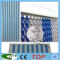 Metal aluminium insect fly screen for decor