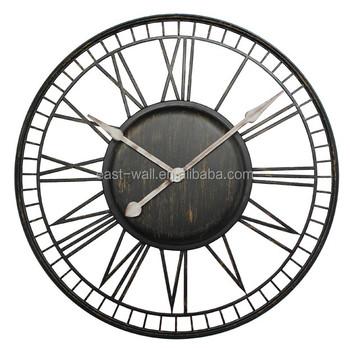 Round Iron Skeleton Brust Imitated Artistic Wall Clock