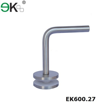 Glass hardware stainless steel round glass handrail bracket for glass balustrade