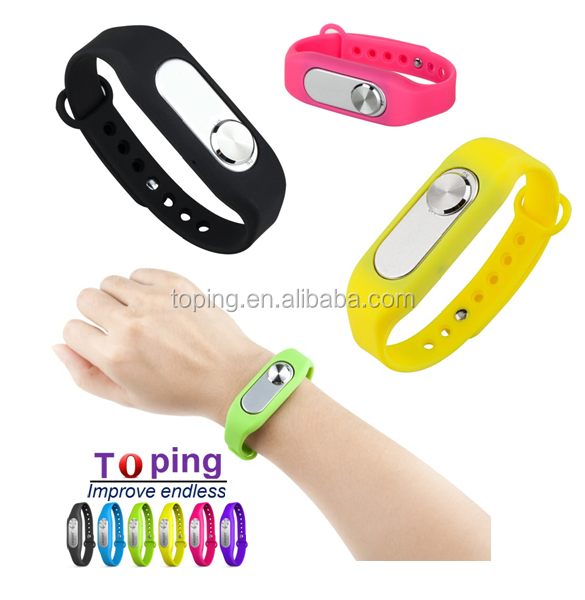 TP006 2016 Fashion Colorful Wearable Wristband MINI Portable Digital Sports Bracelet micro hidden Voice Recorder 8GB