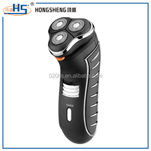 high quality black rechargeable men shaver electric three heads razor shaver