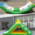 Exciting Seashore Durable Water Games 5M Floating Inflatable Water Trampoline With EN15649 For Adults
