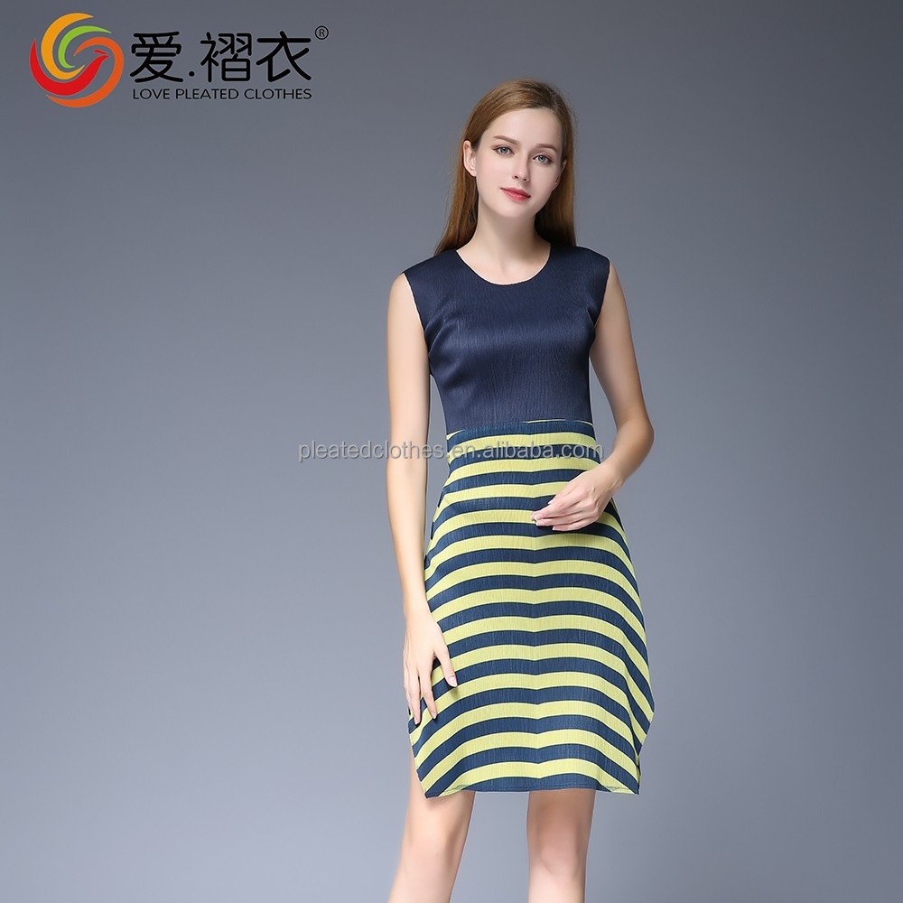 Polyester pleated techinic my choice dresses black little dress