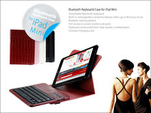 iFans detachable leather Bluetooth Keyboard For ipad mini