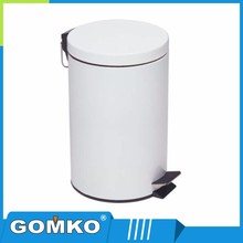 Special style powder coating bathroom stainless steel pedal trash bin
