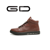 new style fashion leather men formal shoes lace up high cut footwear