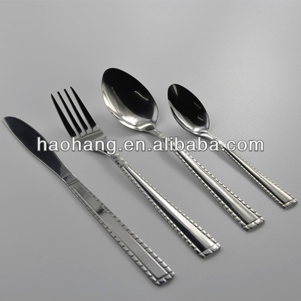 2014Popular unique design Spoon knife and fork dinner sets stainless steel