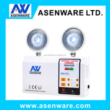 6v battery rechargeable twin spot led emergency lights for buildings