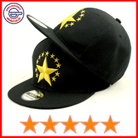 Good quality kids 3d stars embroidery snapback caps children flat bill caps kids raised embroidery snapback caps (SU-HP25327)