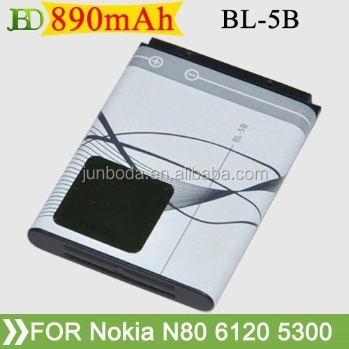 Mobile Phone Battery Li-Ion battery cell phone battery BL-5B For NOIKA 6060 6070 6080 N80 N90