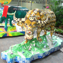 Customized handmade outdoor fiberglass bull