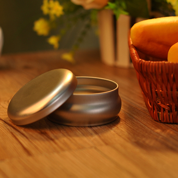 round tin container for tealight, gift tin box