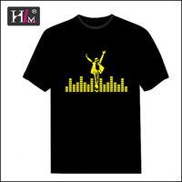 2015 Hotsale America USA alien led t shirt with individual design