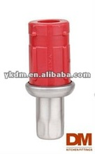 Red plastic Adjustable Furniture Foot for 38mm