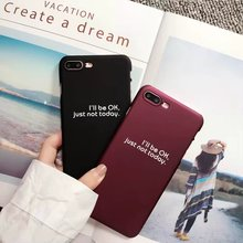 Nice words writting Full / Half Cover For iPhone 7 8 Plus PC Hard Case For iPhone 5 5S SE 6 6s Cases Phone Cover