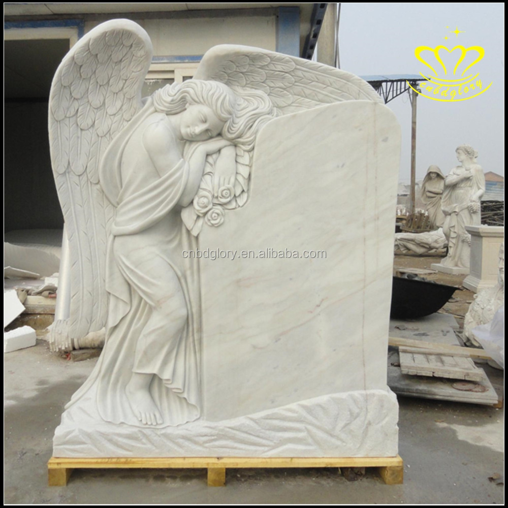 Supply white marble stone tombstone large family grave for Lapidas de marmol