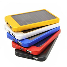 PowerGreen 2600mAh Mobile Solar Charger,Slim Power Bank for Smartphone