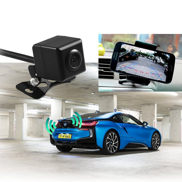 2017 newest Android ISO Mobile Support Wide Angle Wifi Car Backup/ Rear View Camera With Waterpoof Wifi Video Transmitter