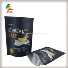 Custom wholesale food matte self sealing stand up pouch/Gift plastic food packing bag