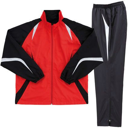 fine fabric warmup track suit