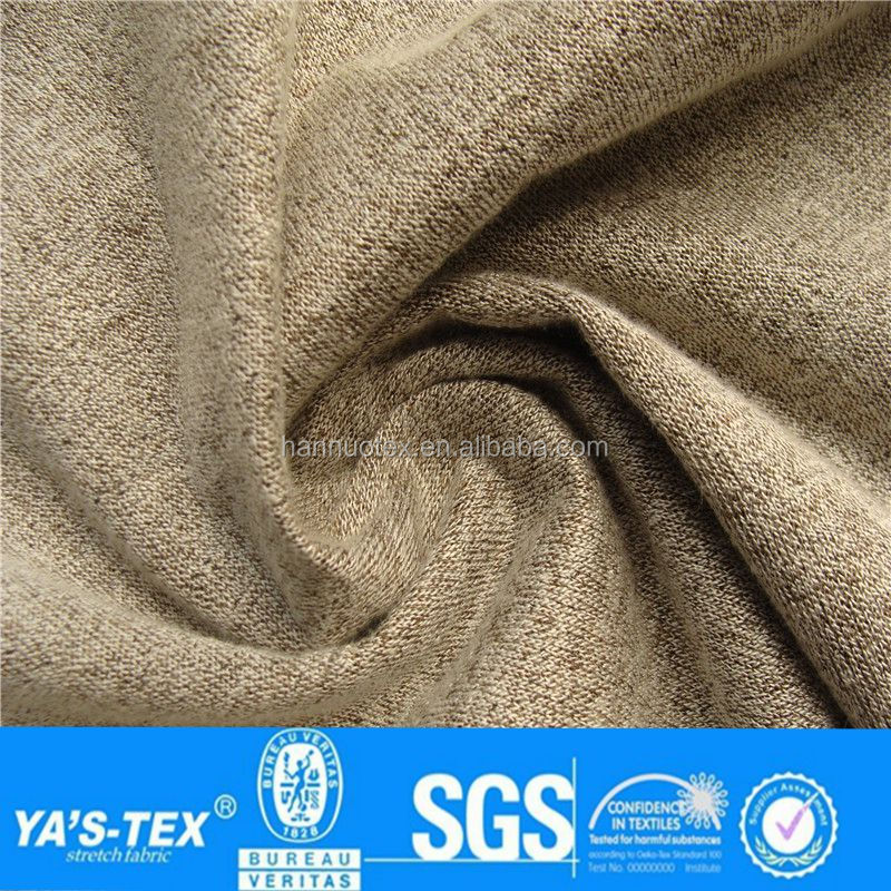3 layers Black Polar Fleece Laminated Brown Thick Knitting Fabric for Winter Dress