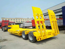 low bed semi trailer with good steel material to load heavy duty equipments and machine