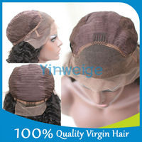 130% density full lace wig,tangle free human hair wig,remy hair half wig