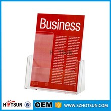 Cardboard corrugated POS acrylic brochure holder