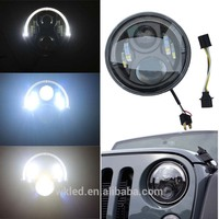 "High quality 55W 7 inch motorcycle led light 7"" round headlight harley daymaker led LED Headlight for Jeep Truck"