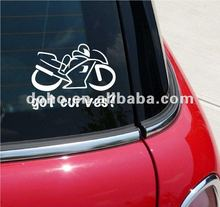 High quality fast delivery White Color vinyl Auto Window decals(ss-2746)