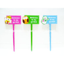 Welcome to my garden bees printing word sign metal garden stakes