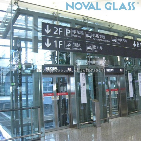 Qingdao NOVAL 8mm 10mm Clear Toughened Glass For Balcony