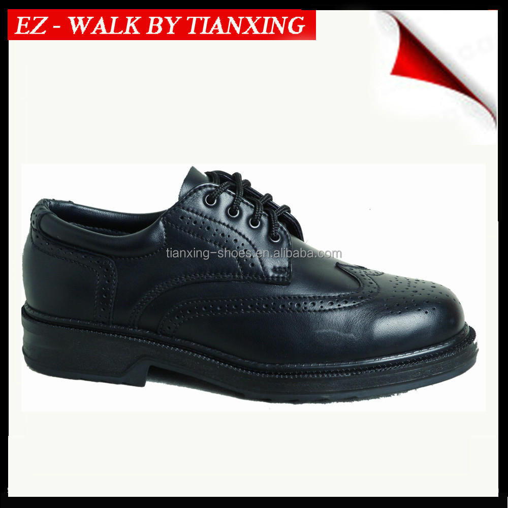 OFFICE SHOE WITH STEEL TOE AND GENUINE LEATHER UPPER