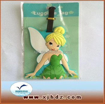 PVC luggage tag Angel Girl