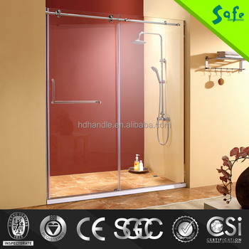 modern design frameless glass stainless steel bathroom shower enclosure