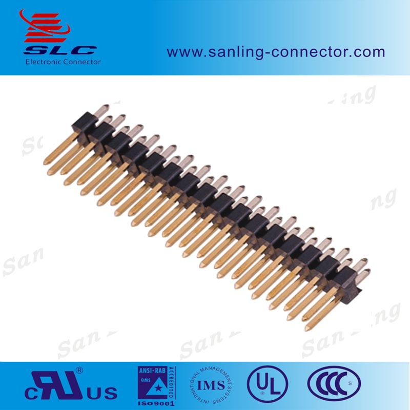 n Pin Double Row pitch 2.54mm 2 Pin Header connector for PCB board