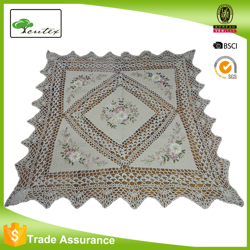 Handmade Tablecloths Hand Crochet Lace Pattern Dining Table Cloth