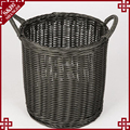 Large capacity fruit storage baskets with handles rattan cheap food basket for storage