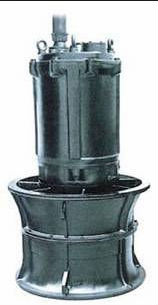 SUBMERSIBLE AXIAL FLOW PUMP FOR LARGE VOLUMES OF WATER AT LOW HEAD