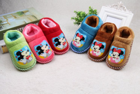 Winter indoor bedroom mickey mouse children plush slippers shoes